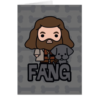 Cartoon Hagrid and Fang Character Art Card