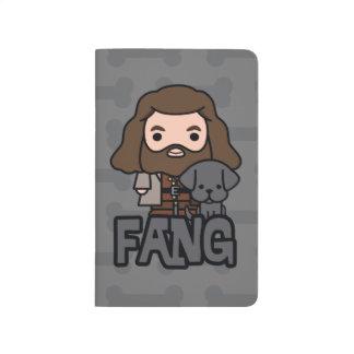 Cartoon Hagrid and Fang Character Art Journal