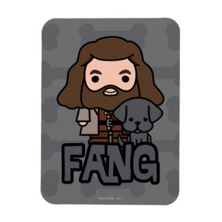 Cartoon Hagrid and Fang Character Art Magnet