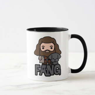 Cartoon Hagrid and Fang Character Art Mug