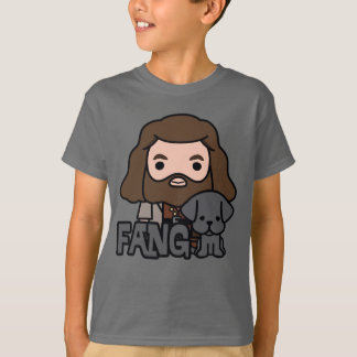 Cartoon Hagrid and Fang Character Art T-Shirt