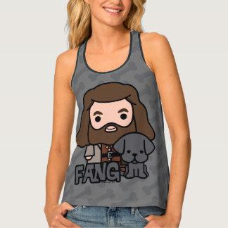 Cartoon Hagrid and Fang Character Art Tank Top