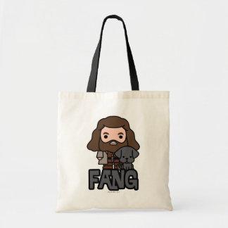 Cartoon Hagrid and Fang Character Art Tote Bag