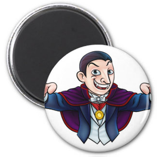 Cartoon Halloween Vampire 2 Inch Round Magnet
