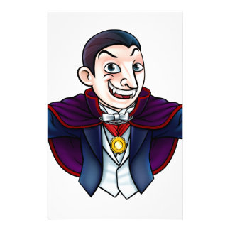 Cartoon Halloween Vampire Stationery