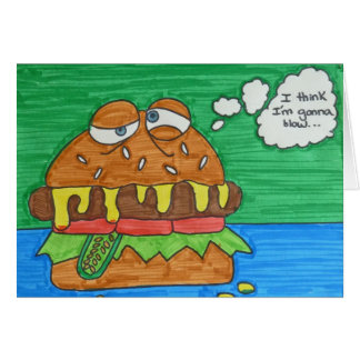 Cartoon Hamburger Card