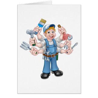 Cartoon Handyman Card