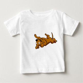Cartoon happy dog is lying down baby T-Shirt