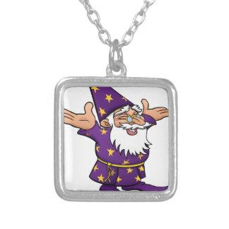 Cartoon Happy Wizard Silver Plated Necklace