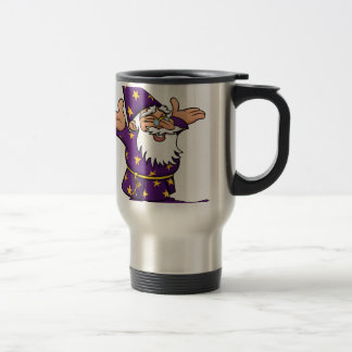 Cartoon Happy Wizard Travel Mug