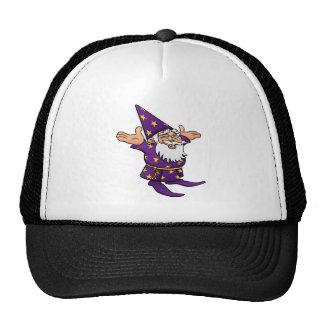 Cartoon Happy Wizard Trucker Hat