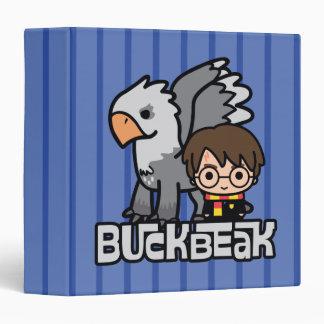 Cartoon Harry Potter and Buckbeak Binder