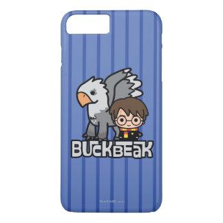 Cartoon Harry Potter and Buckbeak iPhone 8 Plus/7 Plus Case