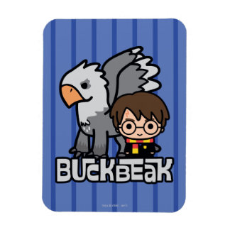 Cartoon Harry Potter and Buckbeak Magnet