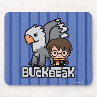 Cartoon Harry Potter and Buckbeak Mouse Pad