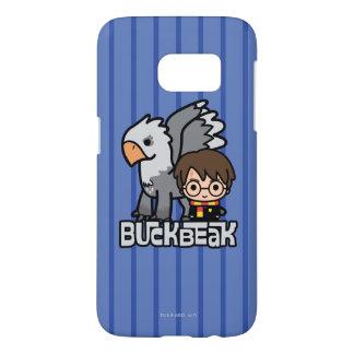 Cartoon Harry Potter and Buckbeak Samsung Galaxy S7 Case