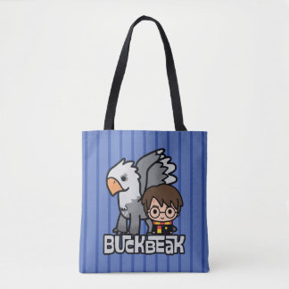 Cartoon Harry Potter and Buckbeak Tote Bag