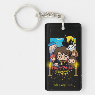 Cartoon Harry Potter and the Sorcerer's Stone Keychain