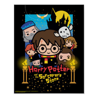 Cartoon Harry Potter and the Sorcerer's Stone Poster