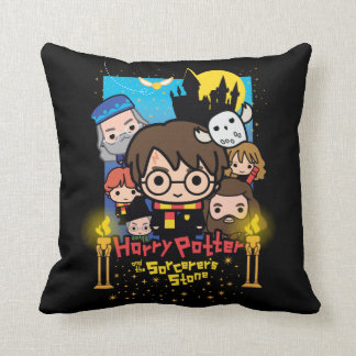 Cartoon Harry Potter and the Sorcerer's Stone Throw Pillow