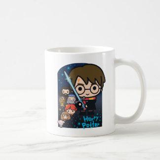 Cartoon Harry Potter Chamber of Secrets Graphic Coffee Mug