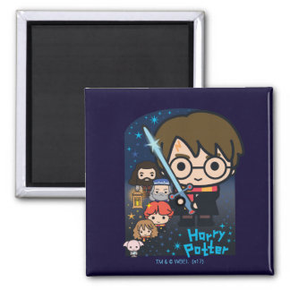 Cartoon Harry Potter Chamber of Secrets Graphic Magnet