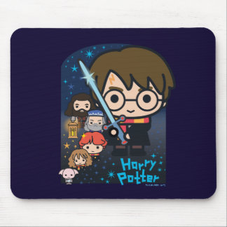 Cartoon Harry Potter Chamber of Secrets Graphic Mouse Pad