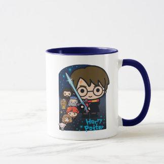 Cartoon Harry Potter Chamber of Secrets Graphic Mug