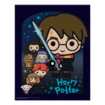 Cartoon Harry Potter Chamber of Secrets Graphic Poster