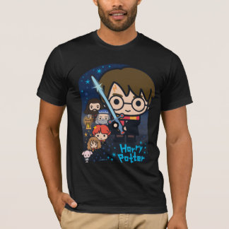 Cartoon Harry Potter Chamber of Secrets Graphic T-Shirt