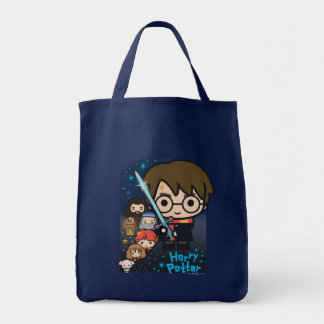 Cartoon Harry Potter Chamber of Secrets Graphic Tote Bag