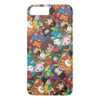 Cartoon Harry Potter Character Toss Pattern iPhone 8 Plus/7 Plus Case