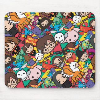 Cartoon Harry Potter Character Toss Pattern Mouse Pad