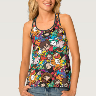 Cartoon Harry Potter Character Toss Pattern Tank Top