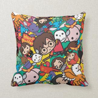 Cartoon Harry Potter Character Toss Pattern Throw Pillow