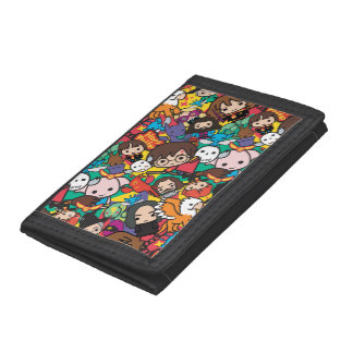Cartoon Harry Potter Character Toss Pattern Tri-fold Wallets