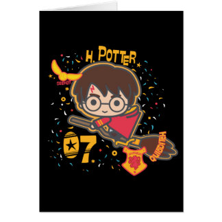 Cartoon Harry Potter Quidditch Seeker Card