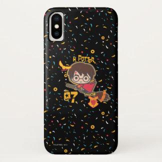 Cartoon Harry Potter Quidditch Seeker iPhone X Case