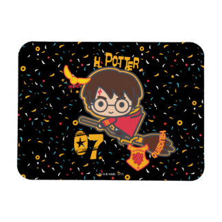 Cartoon Harry Potter Quidditch Seeker Magnet