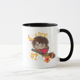 Cartoon Harry Potter Quidditch Seeker Mug