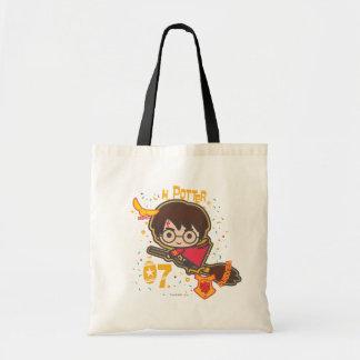 Cartoon Harry Potter Quidditch Seeker Tote Bag