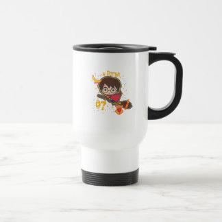 Cartoon Harry Potter Quidditch Seeker Travel Mug