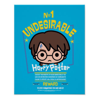 Cartoon Harry Potter Wanted Poster Graphic