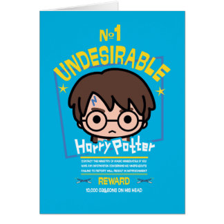 Cartoon Harry Potter Wanted Poster Graphic Card