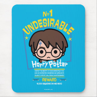 Cartoon Harry Potter Wanted Poster Graphic Mouse Pad