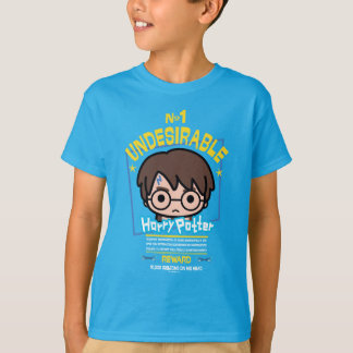 Cartoon Harry Potter Wanted Poster Graphic T-Shirt