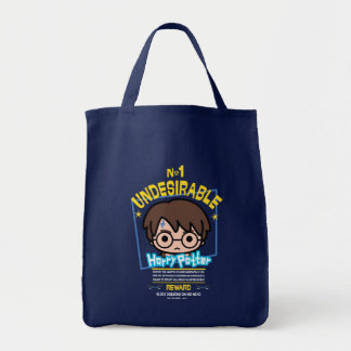 Cartoon Harry Potter Wanted Poster Graphic Tote Bag