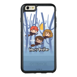 Cartoon Harry, Ron, & Hermione Flying In Woods OtterBox iPhone 6/6s Plus Case