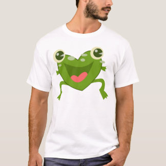 Cartoon Hearts Frog T-Shirt
