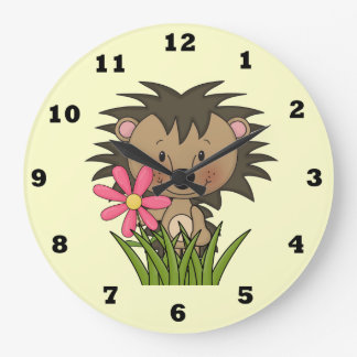 Cartoon Hedgehog kids wall clock